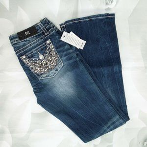 Miss Me Fashion Stone Wash Boot Cut Dark Jeans